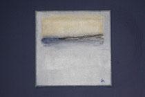 Maritime Komposition I - (kleine) Hommage an Mark Rothko, 2013 (Acryl und Ölpastell auf Leinwand 20 x 20), Andreas Klußmann - verkauft