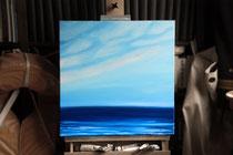 """""""Blauwassersegeln - Newfoundland Ridge"""" 2014 (Öl auf Leinwand, 50 x 50)"""