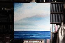 """""""Drei Meilen vor Roter Sand"""" 2013 (Öl auf Leinwand 80 x 80)"""