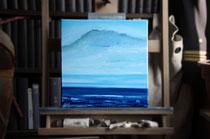 """""""Haisborough Sands"""" 2014 (Öl auf Leinwand 30 x 30)"""