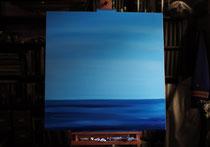 """Flaute im Mittelmeer"" 2013 (Öl auf Leinwand 80 x 80)"