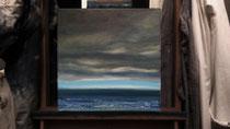 """""""Vor der Nachtwache"""" 2015 (Öl auf Leinwand 30 x 30)"""