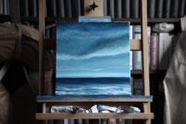 """""""20 Meilen vor Helgoland"""" 2014 (Öl auf Leinwand, 30 x 30)"""