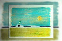 Grüner Leuchtturm, 2015 (Ölpastell und Acryl auf Leinwand, 60 x 80)