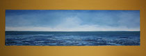 Und hinter dem Horizont die Welt, 1999 (Öl auf Leinwand 40 x 150), Andreas Klußmann