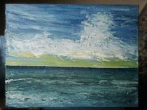 Auf See, 1999 (Öl auf Leinwand, 40 x 50), Andreas Klußmann