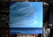 """""""Ich glaube, der Tag wird stürmisch"""" 2013 (Öl auf Leinwand, 80 x 80)"""