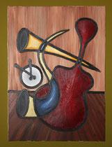 That's Jazz, 1999 (Öl und Goldbronze auf Leinwand 60x80), Andreas Klußmann