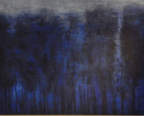'Avondblauw' , acrylverf, pigment op linendoek, 73x92cm /2013 / verkocht