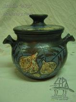 15-50.  Глиняный горшок ручной работы для духовки.