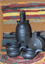 Подарок своими руками. Набор чернолощеной керамики.