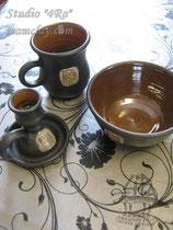 15-28.  Подарочная керамичечкая посуда ручной работы с рельефным изображением.