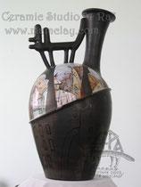 4-008.  Напольная ваза « Вальс московских котов».