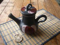 15-04. Глиняный заварной чайник  ручной работы