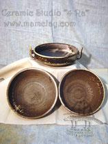 15-42.  Глиняные тарелки и салатники ручной работы.
