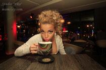 """15-13.  Керамическая чашка """"Rock'n'Roll"""" для ресторана fm cafe."""