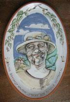 Подарок на заказ. Портрет Сысоева А. Керамика ручной работы.