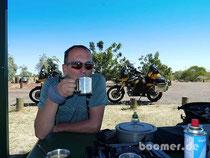 Mittagessen und Kaffeepause unterwegs
