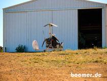 Gyrocopter um den Überblick zu behalten