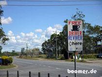 """gratis """"Hallo-Wach"""" an den australischen Highways"""