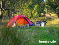 Bushcamp an der Limestone Road bei Tag