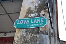 """In der Nähe der berüchtigten """"Love Lane"""""""