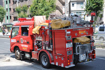 Selbst die Feuerwehrautos sind klein
