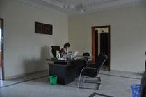 Rita bei konzentrierter Arbeit