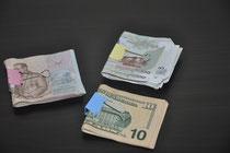 das Geld ist gezählt und