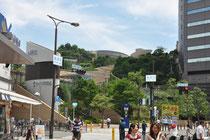 Eine Shoppingmall mit Dachgärten