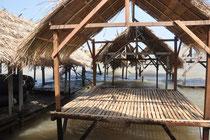 Strandhütten an der Nordspitze von Silk Island