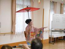 きれいな日本舞踊の舞でした。
