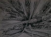 Frottage - Feder - Bleistift