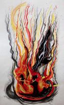 Hexentanz - Collage - Farbe - Bleistift