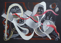 Collage, Mischtechnik, ca 40 x 30 cm