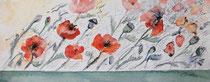 Mohnblumenwiese im Wind - 20x50