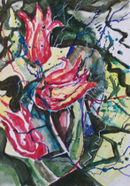 Tulpen - Aquarell mit Guache
