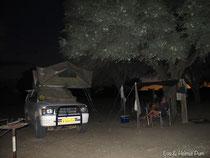 Lagerleben in der Kalahari