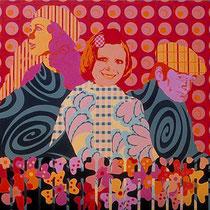 Inge, Gitte, Kurt   , 1997, 150 x 150 cm