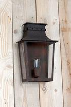 Lanterne d'extérieur murale laiton ou zinc