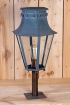 """Lanterne d'extérieur sur pilier """"Annecy"""" laiton ou zinc (image)"""