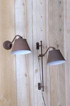 """Lampe """"Whist"""" laiton et zinc, Lumart"""