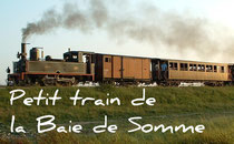 Le petit train traversant la Baie de Somme