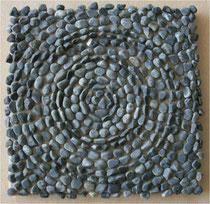 Stein auf Leinwand 20 x 20 cm, 2009