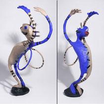 Chaman bleu - 2010 (papier mâché - 0,40m)