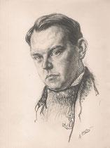 Fernand Ledoux  -Comedie Française 1933 fusain André Aaron Bilis