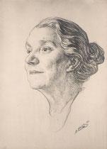 Yvette Guilbert 1932 fusain André Aaron Bilis
