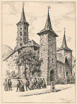 Eglise de Sentein, Ariège 1942 André Aaron Bilis