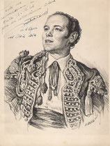 Michel Dens 1952 fusain André Aaron Bilis