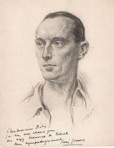 Louis Jouvet 1936 fusain André Aaron Bilis